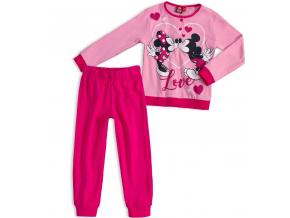Dievčenské pyžamo DISNEY MICKEY MOUSE MICKEY a MINNIE ružové