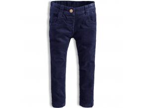 Detské menčestrové nohavice  MINOTI HAPPY tmavo modré