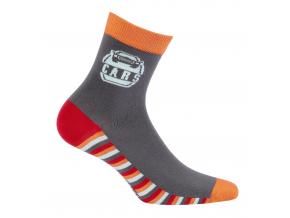 Vzorované ponožky WOLA CARS šedé