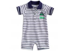 Dojčenský letný overal DIRKJE BOYS zelený nápis