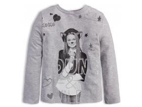 Dievčenské tričko KNOT SO BAD YOUNG šedé