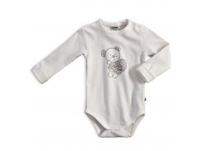 Dojčenské body JACKY  BEAR smotanové
