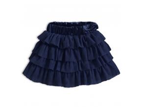 Dievčenská volánová sukňa KNOT SO BAD FASHION STYLE modrá