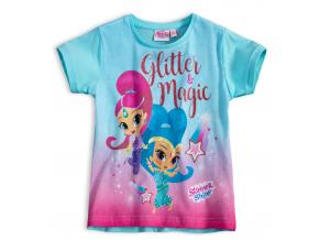 Dievčenské tričko SHIMMER & SHINE GLITTER MAGIC tyrkysové