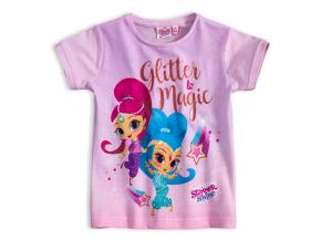 Dievčenské tričko SHIMMER & SHINE GLITTER MAGIC lila