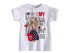 Dievčenské tričko Mix´nMATCH GLAMOUR LOOK biele