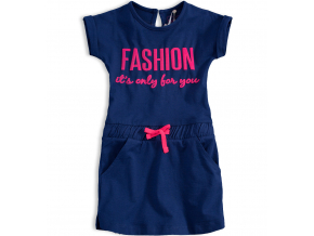 Dievčenské bavlnené šaty KNOT SO BAD FASHION modré