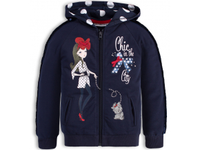 Dievčenská mikina s flitrami Mix´nMATCH CHIC modrá