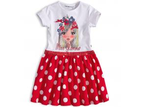 Dievčenské šaty Mix´nMATCH MISS GLAMOUR červené