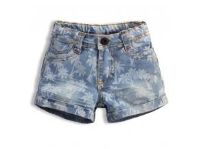 Dievčenské šortky KNOT SO BAD PALMY modré