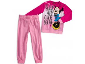 Dievčenské pyžamo Disney MINNIE SLEEP tmavoružové