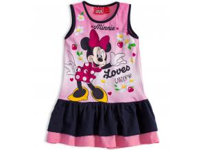 Dievčenské letné šaty Disney MINNIE GARDEN modrý volán