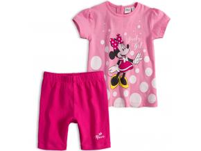 Dievčenská letná súprava  Disney MINNIE LOVELY GIRL ružová