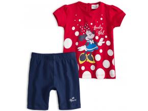 Detská letná súprava  Disney MINNIE LOVELY GIRL červená
