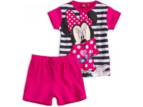 Dievčenské letné pyžamo Disney MINNIE I LOVE MICKEY ružové