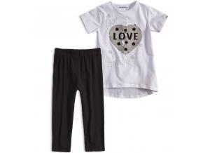 Dievčenské tričko a legíny Mix´nMATCH LOVE biela