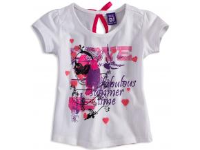 Dievčenské tričko s krátkym rukávom DIRKJE LOVE biele