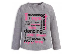 Dievčenské tričko Canguro DREAM šedé