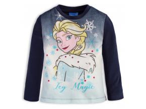 Tričko pre dievčatká Frozen ICY MAGIC modré