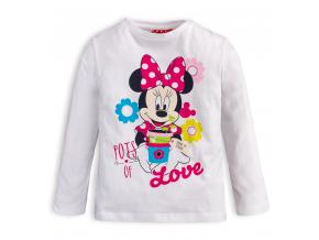 Dievčenské tričko Minnie LOVE biele