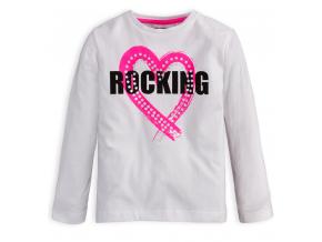Dievčenské tričko Mix n Match ROCKING biele