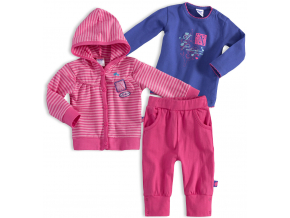 Dojčenská dievčenská súprava DIRKJE ADVENTURE fialová