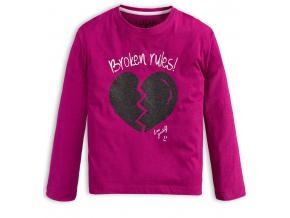 Dievčenské tričko LOSAN BROKEN RULES fialové
