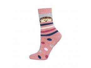 Detské termo ponožky SOXO JEŽKO ružové