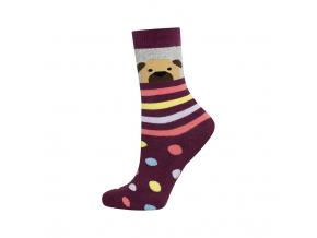 Detské termo ponožky SOXO PSÍČEK fialové