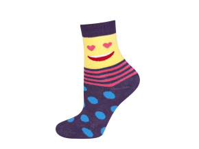 Detské termo ponožky SOXO SMAJLÍK fialové