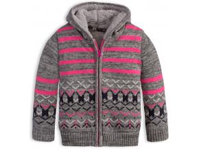 Dievčenský zateplený sveter DIRKJE WEIRD šedý