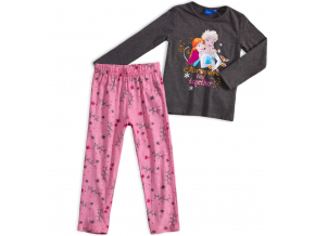 Dievčenské pyžamo DISNEY FROZEN ANNA a ELSA šedé
