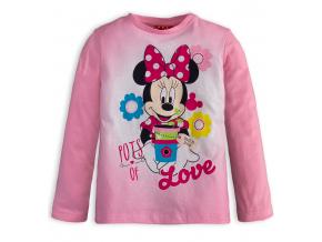 Dievčenské tričko DISNEY MINNIE LOVE ružové