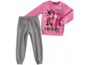 Dievčenské termo pyžamo DISNEY MINNIE AWESOME svetlo ružové