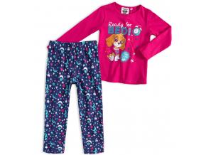 Dievčenské pyžamo PAW PATROL READY FOR BED tmavo ružové