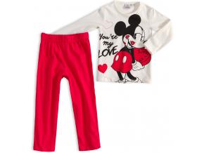 Dievčenské pyžamo DISNEY MINNIE MY LOVE krémové