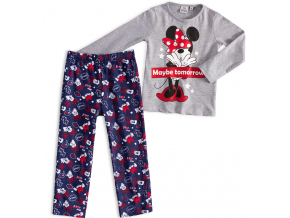 Dievčenské pyžamo DISNEY MINNIE MAYBE TOMORROW šedé