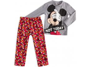Detské pyžamo MICKEY MOUSE NOT TODAY šedé