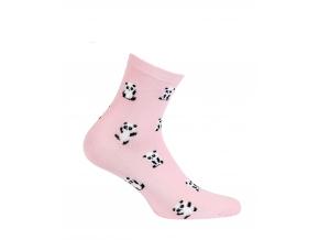 Vzorované dámske ponožky GATTA PANDY ružové