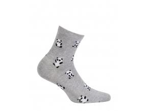 Vzorované dámske ponožky GATTA PANDY šedý melír