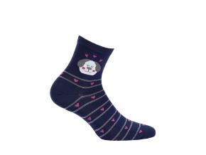 Dámske ponožky so vzorom GATTA PSÍK modré
