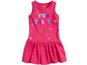 Dievčenské šaty s preklápacími flitrami LOSAN FUNTASTIC ružové