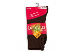 Dámske bambusové ponožky NUR DIE hnedé