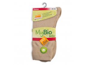 Dámske ponožky z bio bavlny NUR DIE béžové