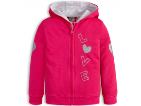 Dievčenská mikina LOSAN LOVE ružová