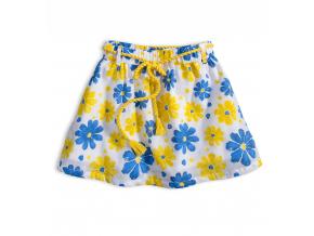 Dievčenská sukňa KNOT SO BAD FLOWER STYLE žltá potlač