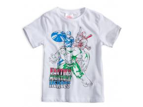 Chlapčenské tričko AVENGERS HERO biele