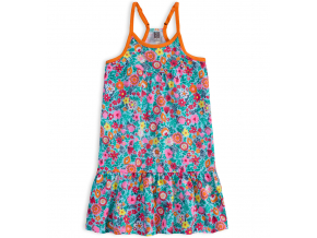 Dievčenské letné šaty LOSAN SUMMER GARDEN tyrkysové