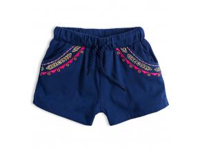 Dievčenské šortky KNOT SO BAD ETHNO tmavo modré