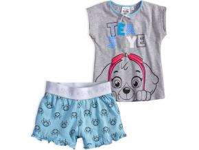 Dievčenské pyžamo PAW PATROL TEAM SKYE šedé